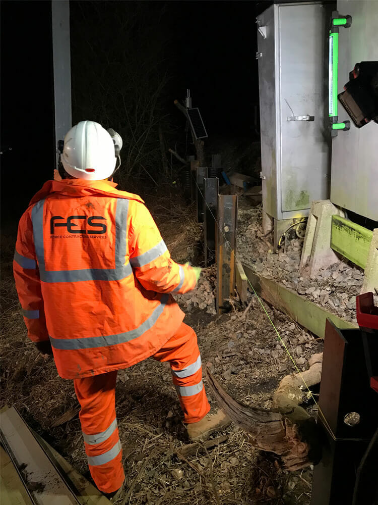 Rail Piling work carried out