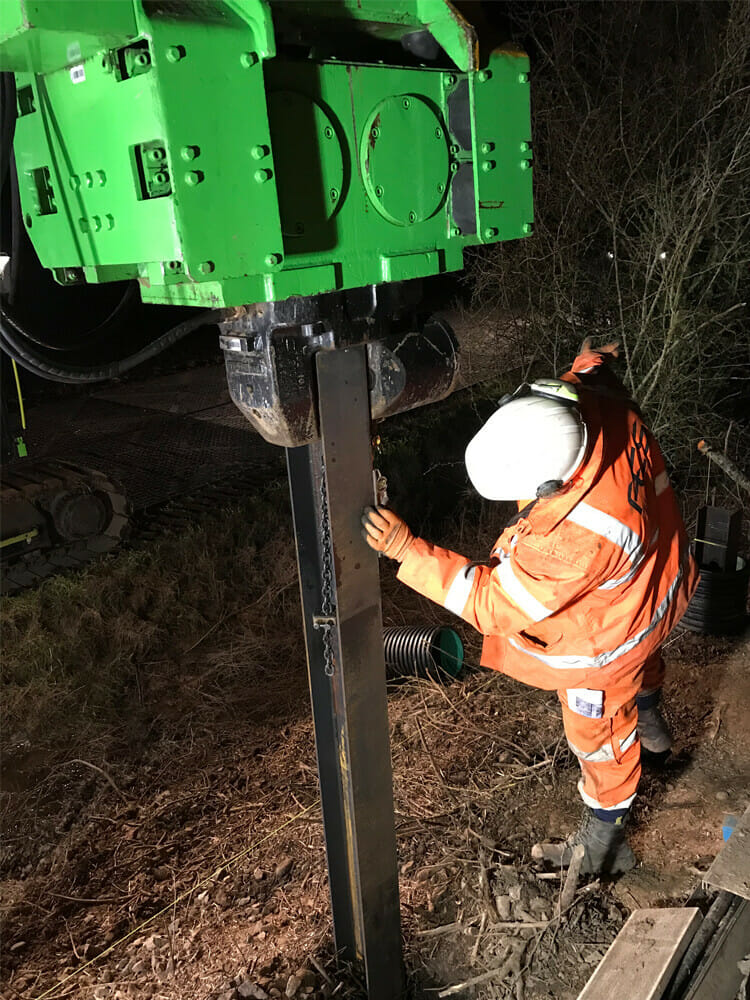 piling services for rail