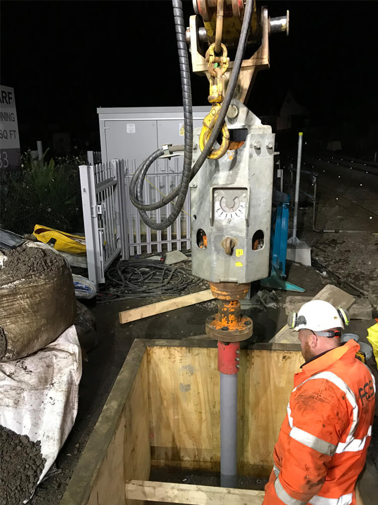 rail piling contractor